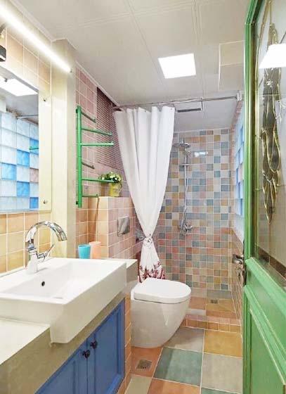 砖砌洗手台装修效果图