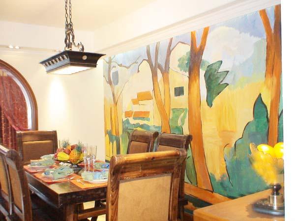餐厅背景墙装修装饰图片