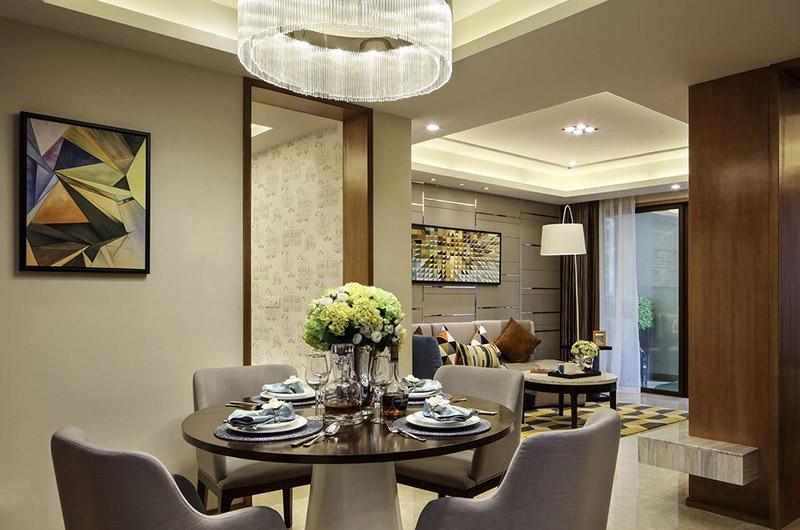 77平简约风格样板房餐厅装潢设计