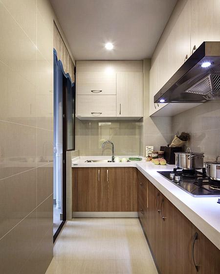 现代宜家风厨房 L型橱柜设计