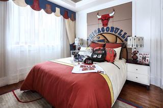 美式主题男孩房装潢图片