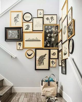 楼梯背景墙装饰画设计