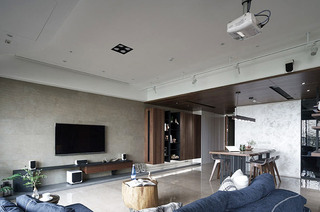 170平简约风格客厅吊顶装修