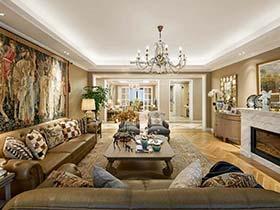 242㎡法式三居室装修实景图   浪漫新贵