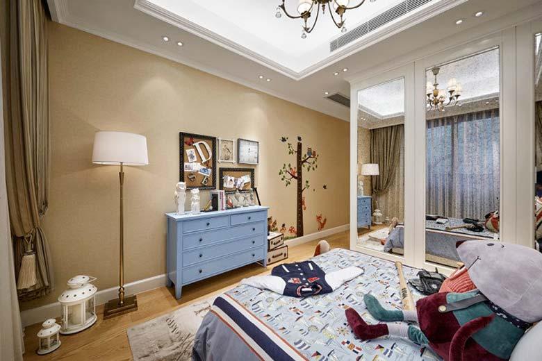 242㎡法式三居室儿童房效果图