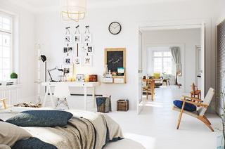 北欧风格公寓卧室装潢图