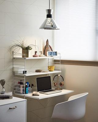 148平北欧公寓卧室书桌效果图