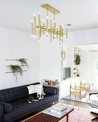 时尚金属客厅吊灯效果图