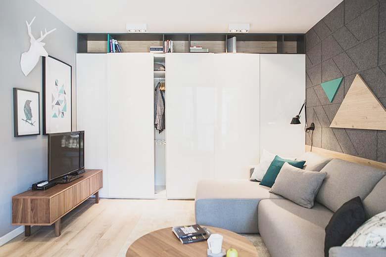 60平米单身公寓客厅设计图