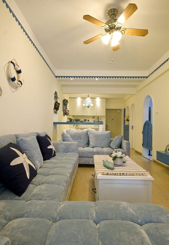 5-10万80平米地中海二居室装修效果图,地中海风格装修图片