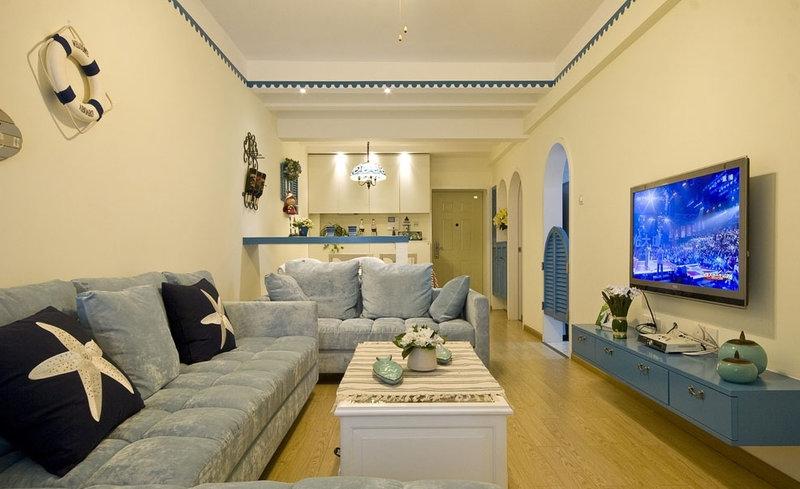 5-10万80平米地中海二居室装修效果图,地中海风格装修