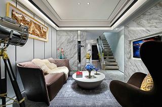100平现代简约复式楼装修