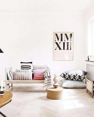 几何图案沙发抱枕效果图大全