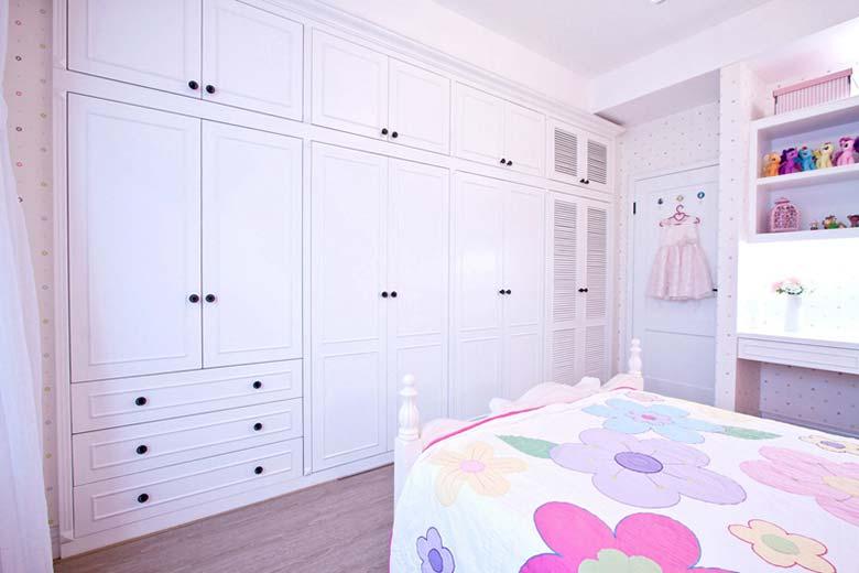 清新美式田园儿童房 整体衣柜效果图