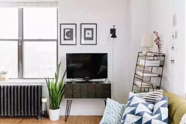 58平米单身公寓客厅电视柜图片