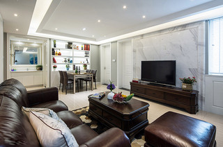 98平混搭三居室客厅装修设计