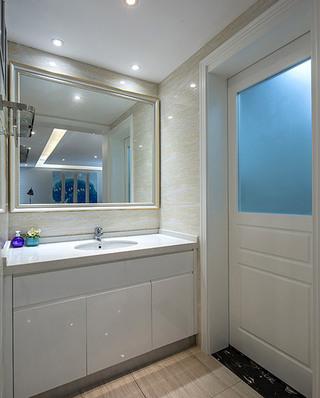 明亮美式卫生间洗手台效果图