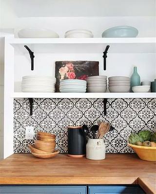 厨房花瓷砖效果图装修