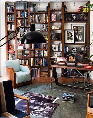 复古小书房装修摆放图