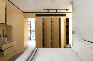混搭风格LOFT公寓卧室衣柜设计