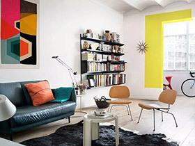70平小公寓旧房改造装修 彩色魔法空间
