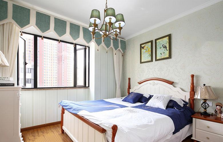 清新美式田园风卧室实景图欣赏