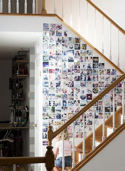 客厅照片墙设计实景图