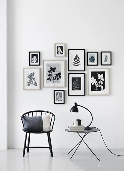 客厅照片墙设计布置效果图
