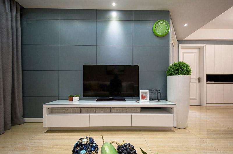 灰蓝色简约风电视背景墙效果图