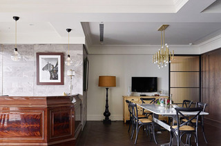 340平美式别墅餐厅效果图装修