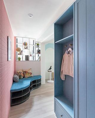 甜美马卡龙色系家居衣柜设计