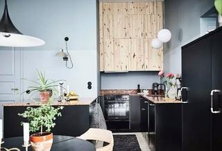 北欧风格单身公寓厨房橱柜图片