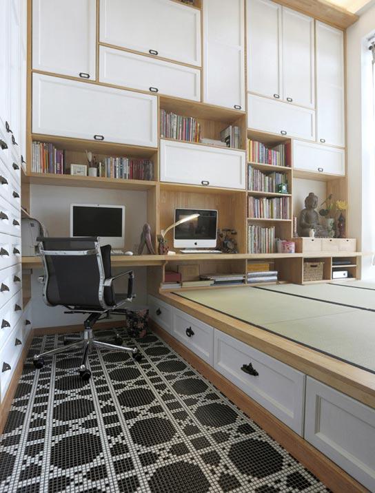 日式小户型书房效果图
