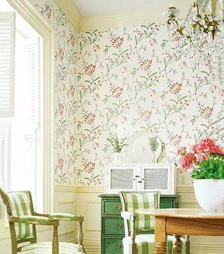 客厅墙面壁纸设计实景图