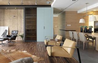 简约风格两房客厅地板装修图