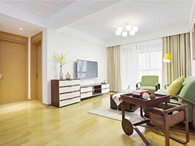 106㎡现代风格两居室实景图  清新之约