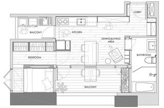 33平单身公寓平面设计图