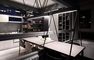33平单身公寓阳台书桌设计图