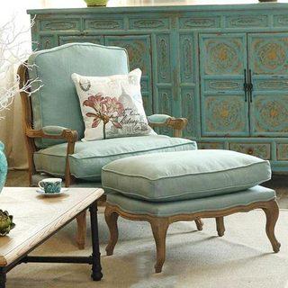 客厅沙发椅布置实景图