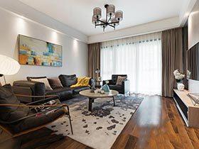 135㎡现代风格两居室设计图  如沐春风
