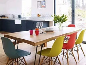 12个餐厅实木餐桌图片 木质清新更开胃!