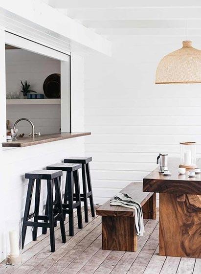 家庭厨房吧台装修图片