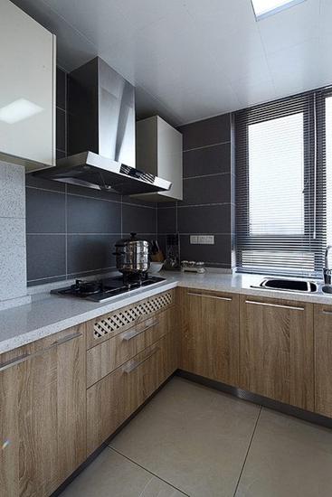 时尚现代简约 厨房实木橱柜设计