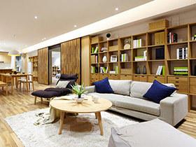 149平日式风格两室两厅装修 低碳环保生活