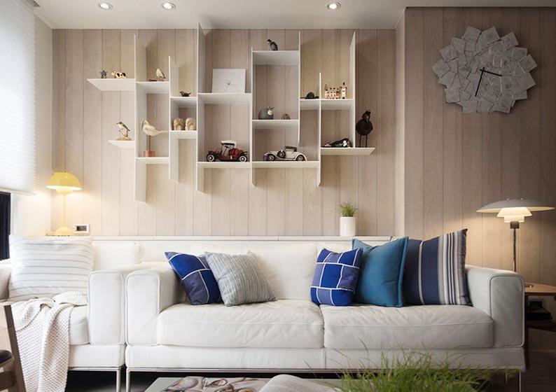 客厅创意背景墙设计效果图