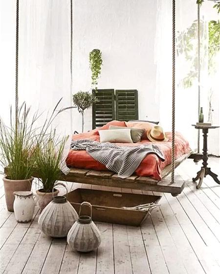 民族风卧室吊床设计