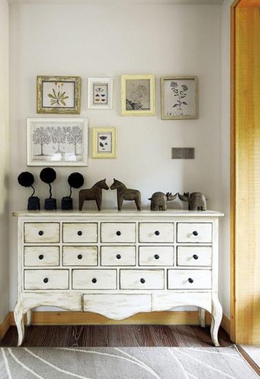 美式风格复式公寓装修收纳柜设计