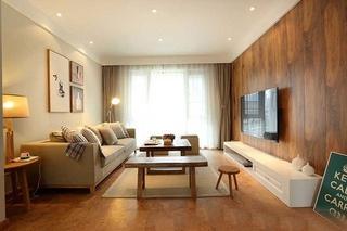 清新日式客厅装饰效果图