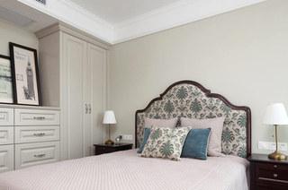 古典美式卧室床头效果图