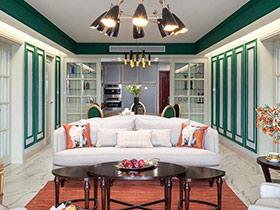 浓彩古典美式 效果出众的三居室